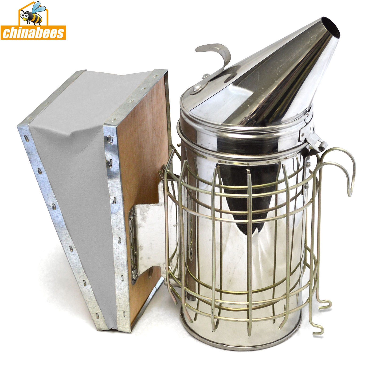 Honey Keeper Bee Hive Smoker Stainless Steel Heat Shield